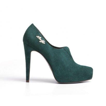 Low-boots vert de Lio-Jo.
