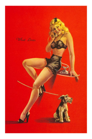 Pin-up au chien