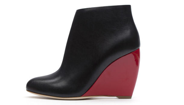 Les boots bicolores compensées de Rupert Sanderson.
