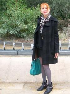 Manteau à carreaux Amy-Gee.