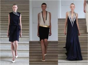Trois robes de la couturière Bouchra Jarrar.