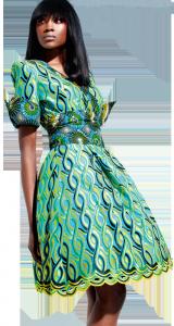 Une robe Vlisco.