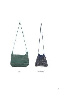 Deux sacs Petite Mendigote ethnique.