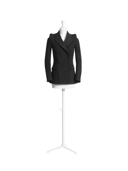 La veste croisée noire 1.
