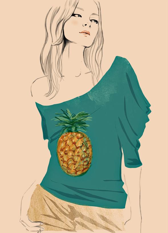 Le tee-shirt Ananas.