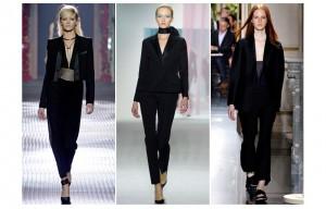 Le smoking chez Lanvin, Dior et Céline.