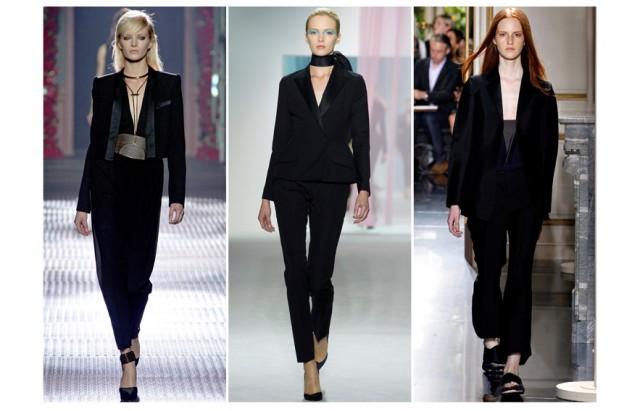 Du noir chez Lanvin, Dior et Céline.