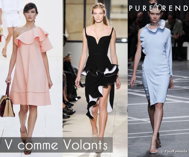 Les volants par Chloé Balenciaga Givenchy.