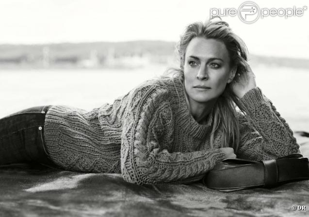 Robin Wright pour la campagne du pull Marilyne